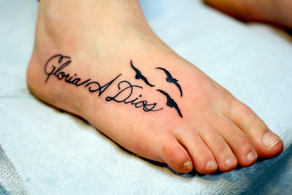"""My first tattoo... it's on my foot to symbolize """"wherever"""
