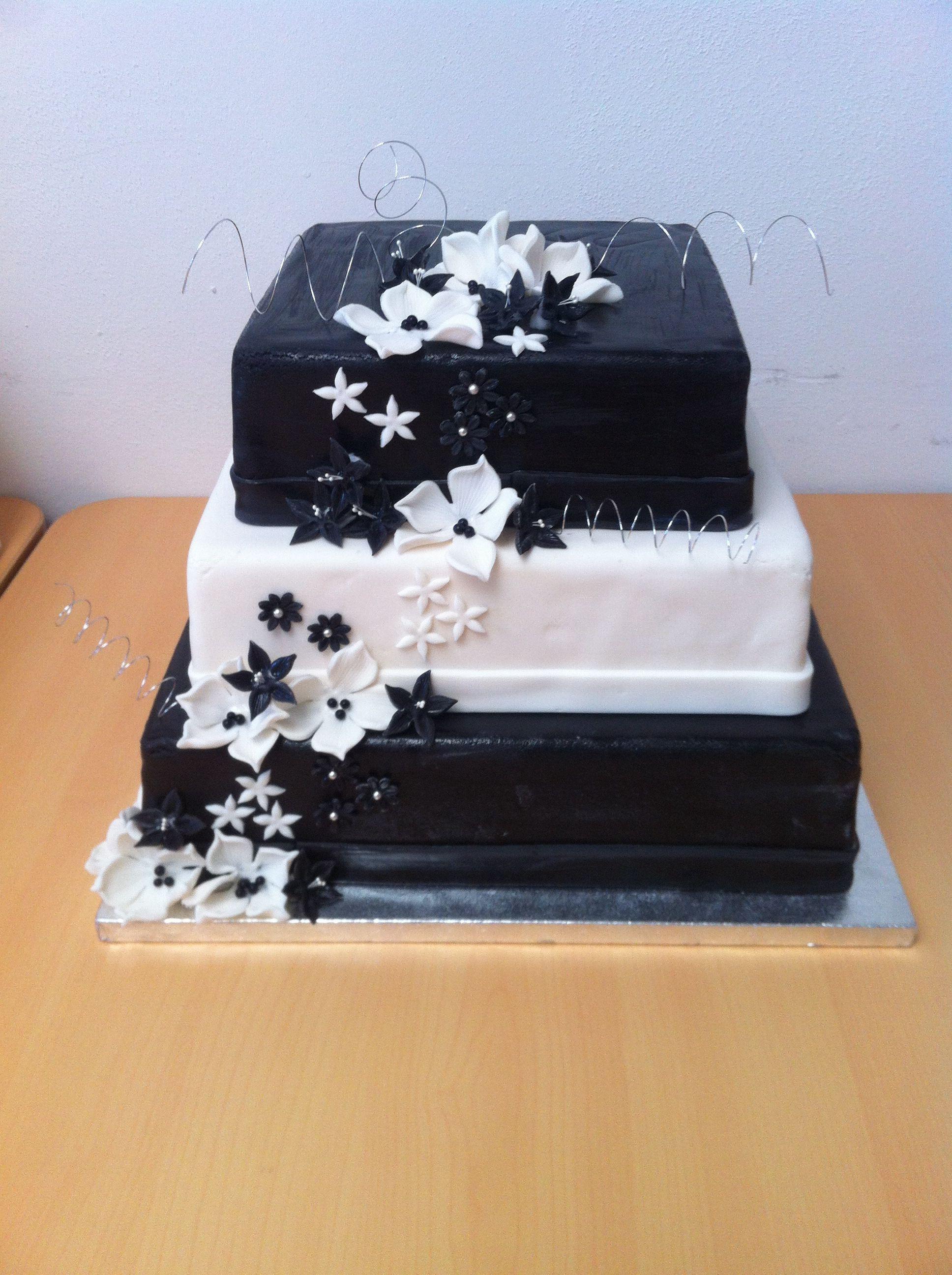 Bruidstaart Zwart Wit Bruidstaart Wit Zwart Wit