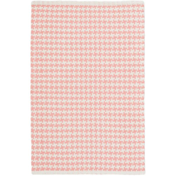 Dash & Albert Checks Coral Woven Cotton Rug ($33) ❤ liked on Polyvore featuring home, rugs, graphic rugs, woven rugs, coral area rug, cotton rugs and weave rug