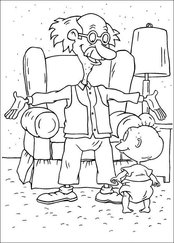 rugrats 13 ausmalbilder für kinder malvorlagen zum