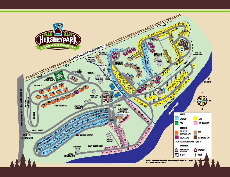 Hershey Park Campground Map Hershey RV Park Campground Map | Camping | Camping resort