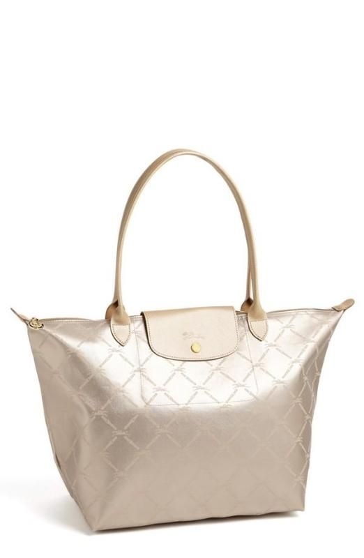 66077d5c3151 In love! Metallic Longchamp Tote