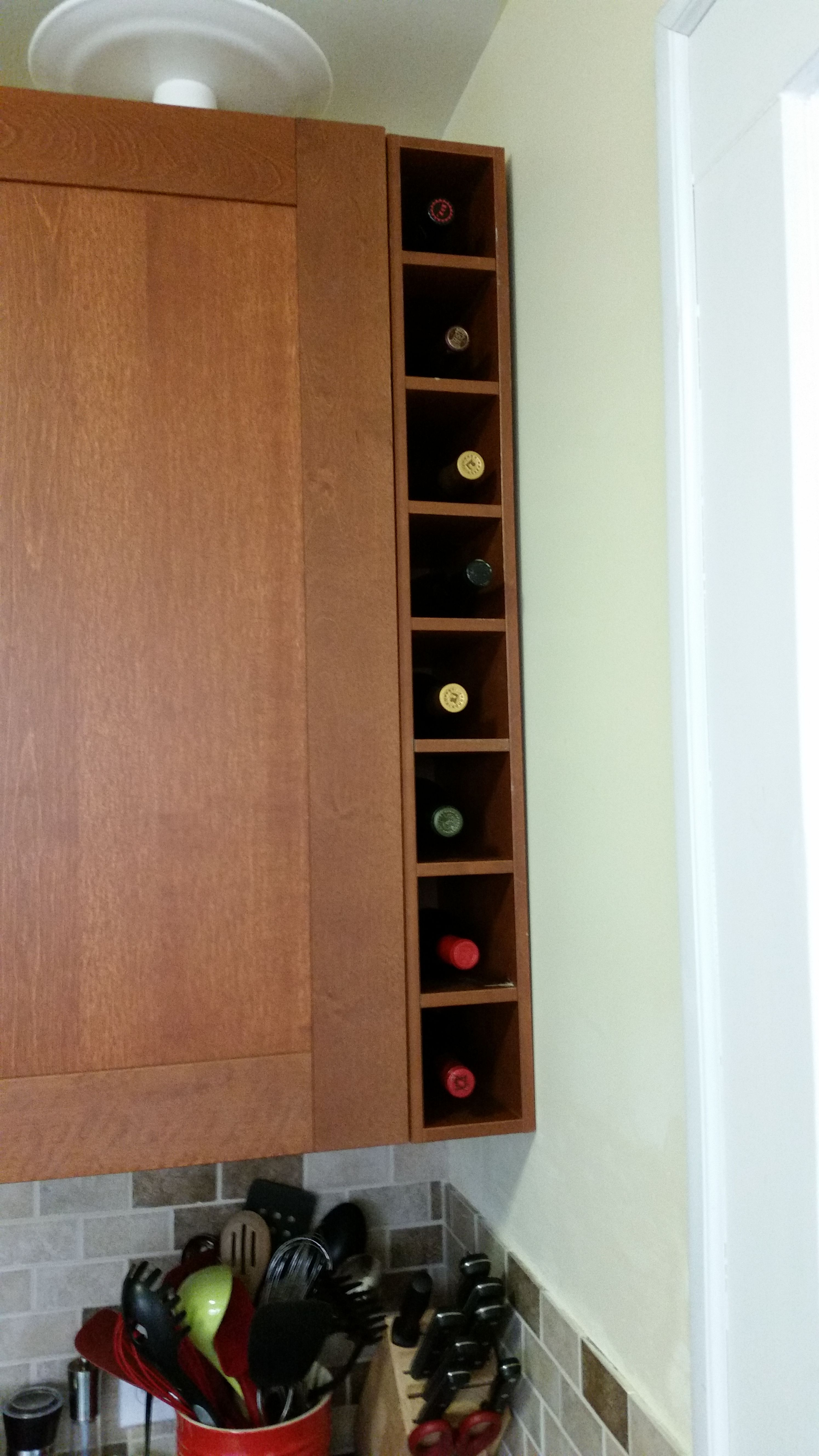 Ikea Hack Wine Rack From Medium Brown Ikea Cabinet Cover Boards
