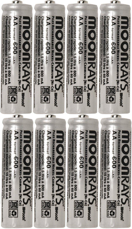 8 Moonrays Rechargeable Nicd Aa Batteries