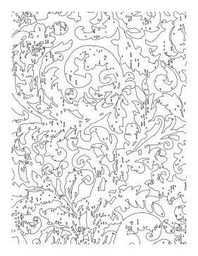 Small Seeds Are Planted Among The Leaves In This Nature Adult Coloring Page
