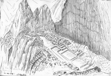 peru historia cultura luis ccosi dibujos machu picchu parte 4