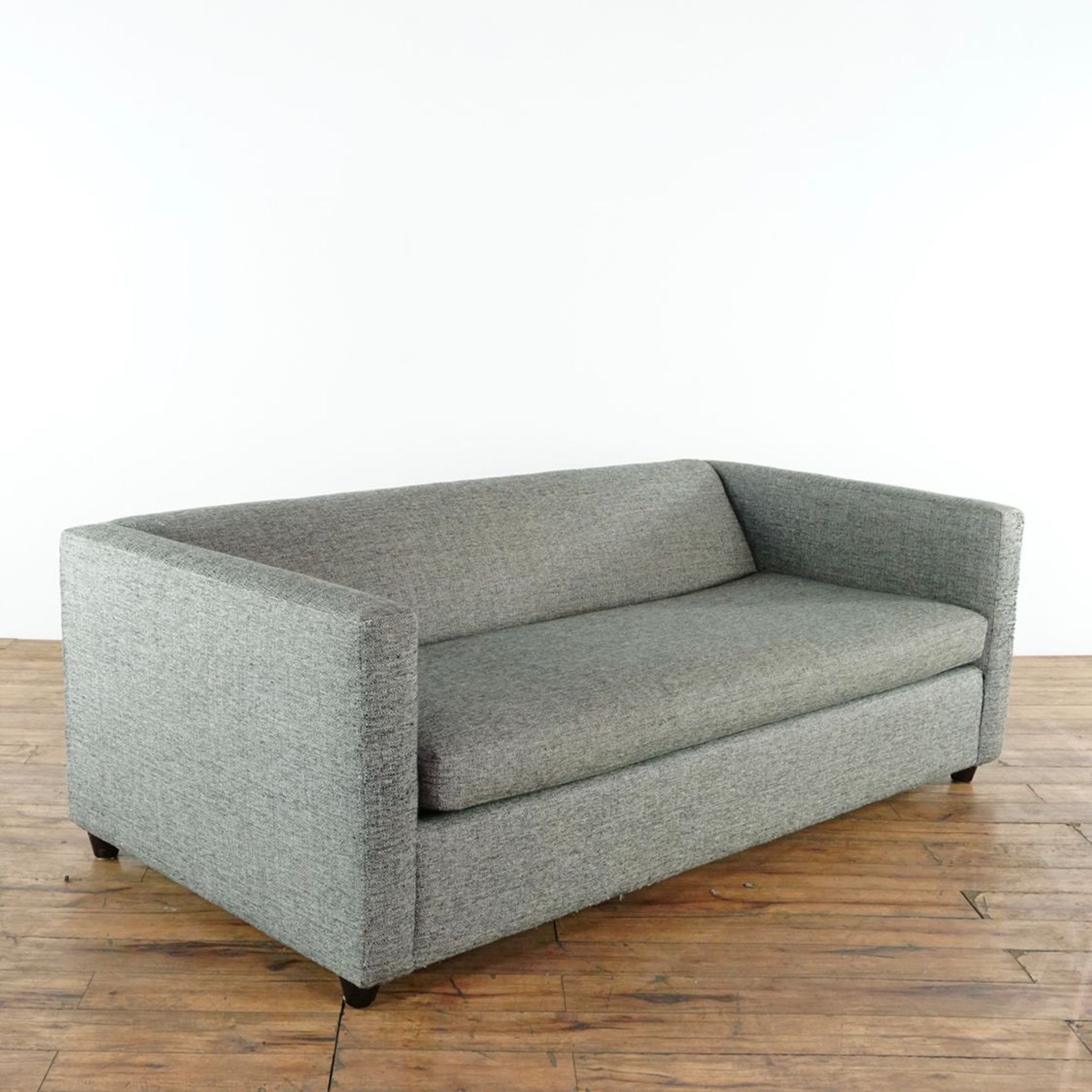 Cb2 Contemporary Movie Salt And Pepper Upholstered Sofa Bed