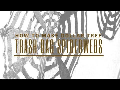 How to make a Spider Web - DIY Trash Bag Spider Webs - YouTube - how to make halloween decorations youtube