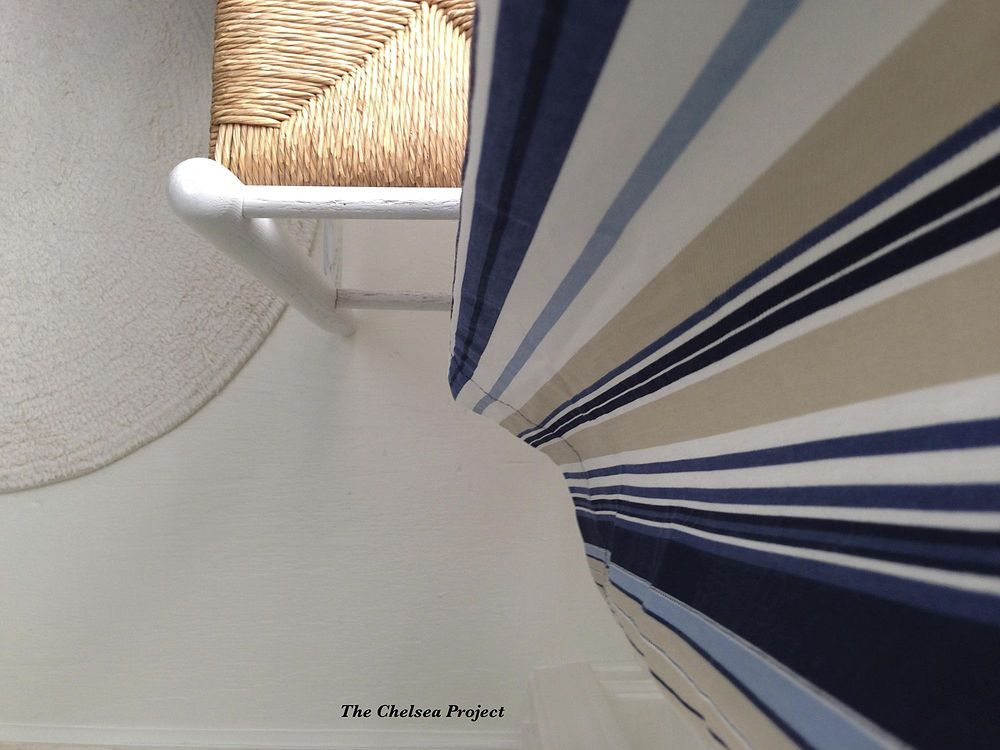 I needed a temporary fix for the floor in front of a bathroom vanity.  The carpet was removed and the subfloor was painted.  One year later, the floor still looks great and the plans to make changes have been moved further down the home imporvement list. | The Chelsea Project Blog | #DIYFloor  #PaintedFloor