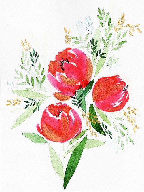 Fall In Love With Watercolor Beginning Watercolor Watercolor