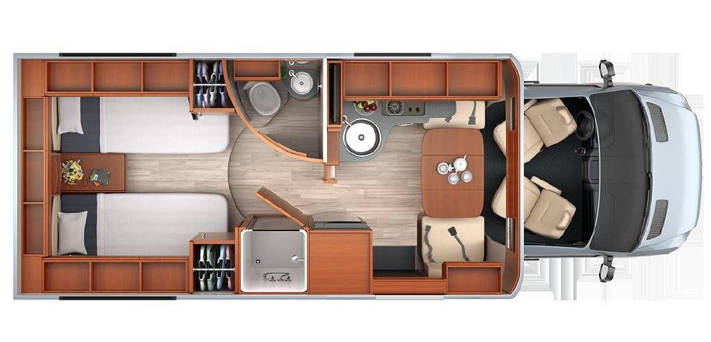 2016 Leisure Travel Van Unity TB Twin Bed B Van Fretz RV