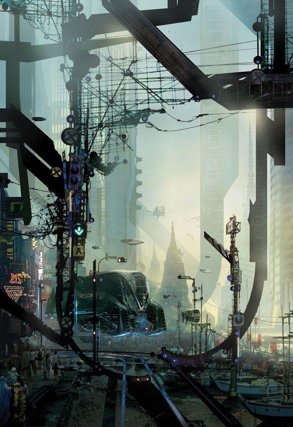 fantastic world by Stephan Martiniere