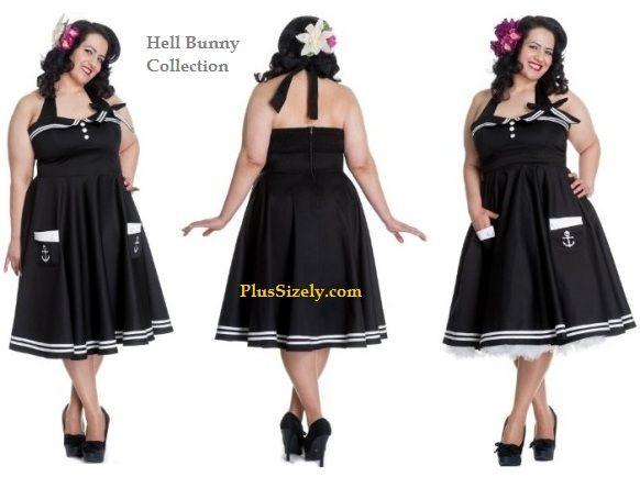 Cute Plus Size Outfits Pinup Halter Dress Cheap Vintage
