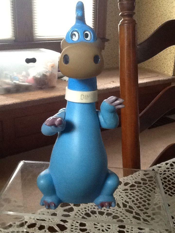 Vintage Toy Flintstones Blue Dino Figure Hanna Barbera R Dakin Co. Hong Kong  | eBay