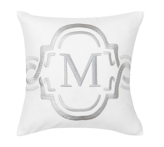 "Monogrammable 12"" Dec Pillow Cover 