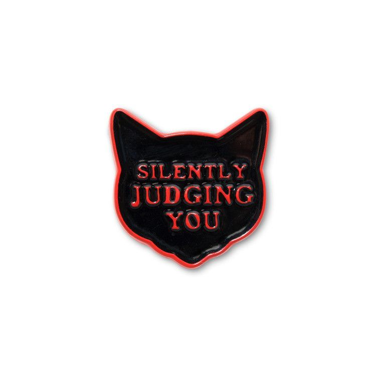 Silently Judging You v2 - Cat Pin