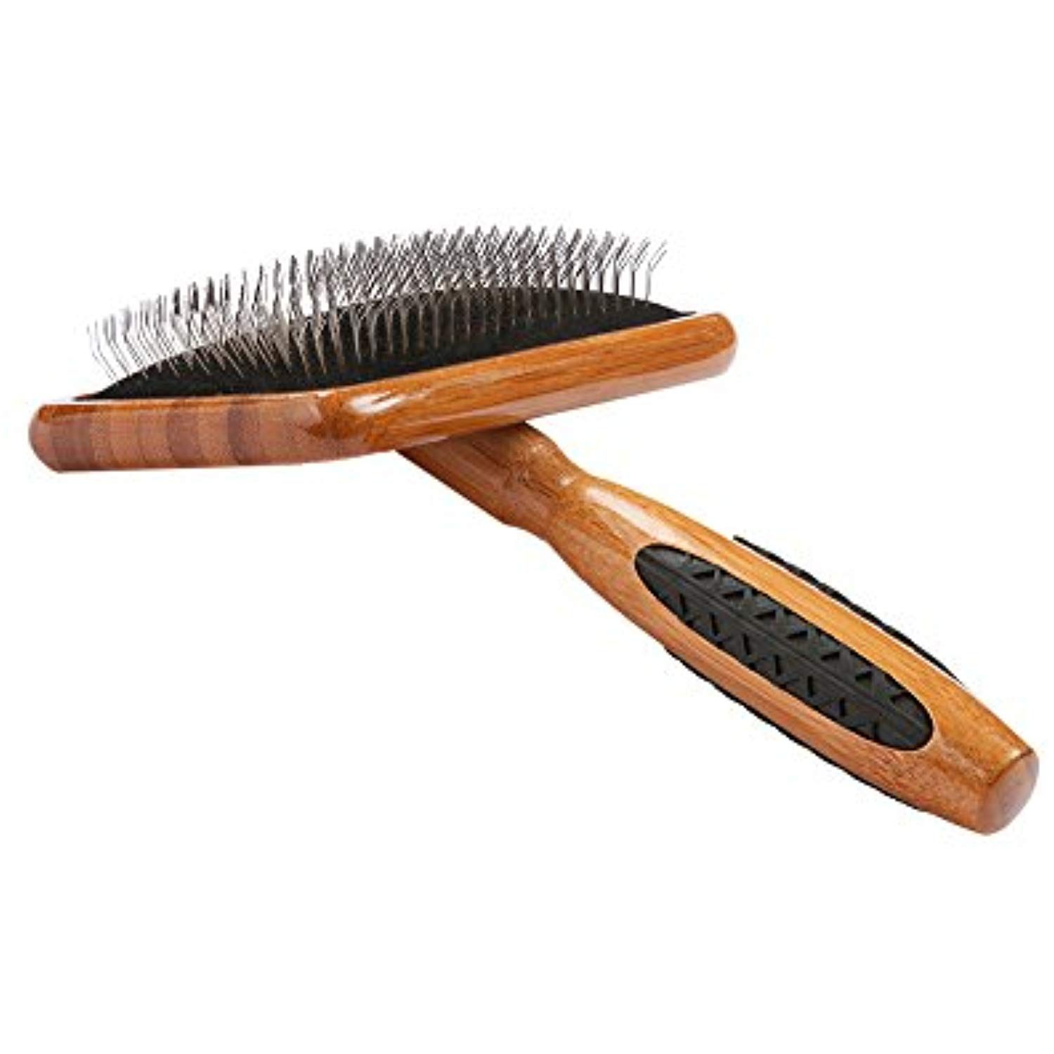 Bass Brushes Large Slicker Style Pet Brush With Bamboo Wood Handle And Rubber Grips Click On The Image For Additional Details Pet Brush Wood Handle Pets