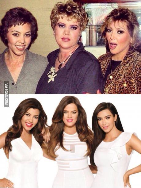Old Kardashian sisters..