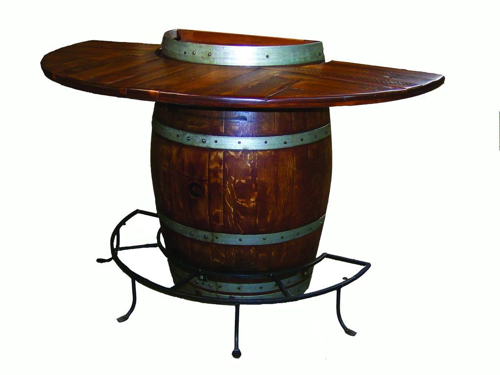 Half Wine Barrel Bistro Table By 2 Day Designs 5011 In 2020 Wine