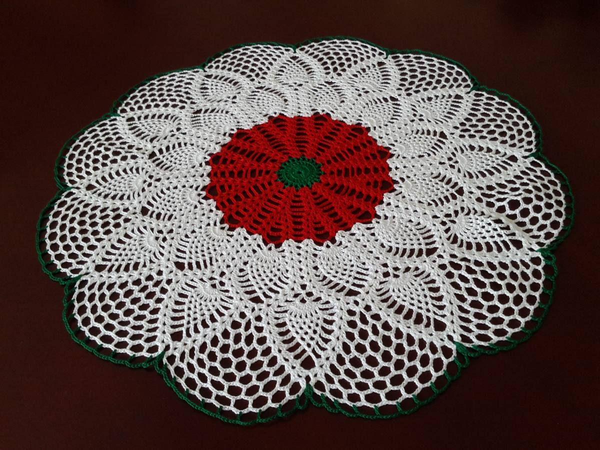 Centro De Mesa Tapete Tejido Crochet 100 Algodon Hermoso Bs