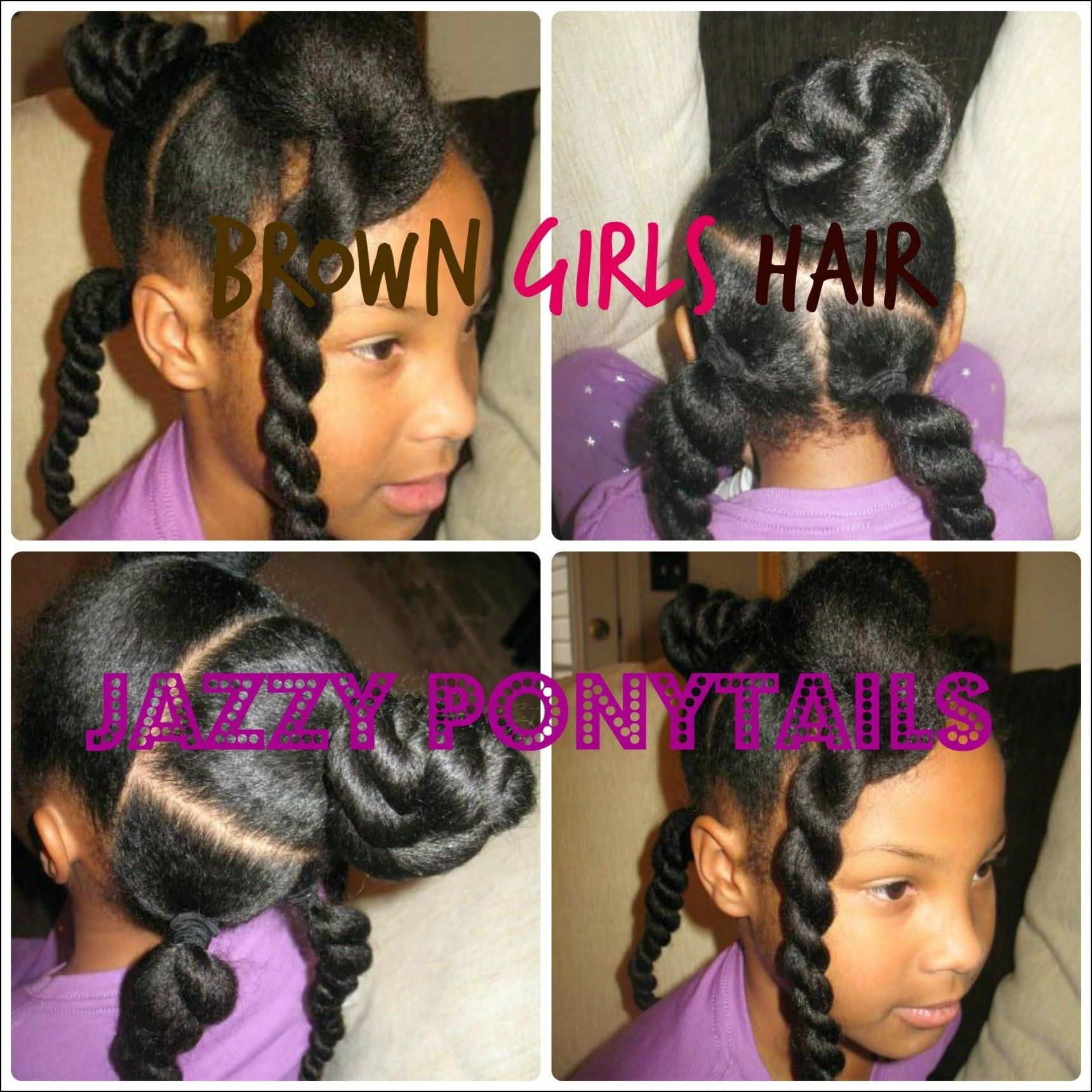 Hairstyles pictures little black ponytail girl