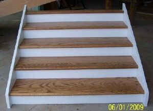Red Oak Stair with Paint-grade  Risers