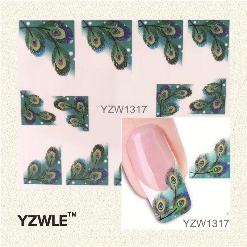 YZWLE Japanese Style Watermark Nail Art Sticker 3D Design Cute Green ...