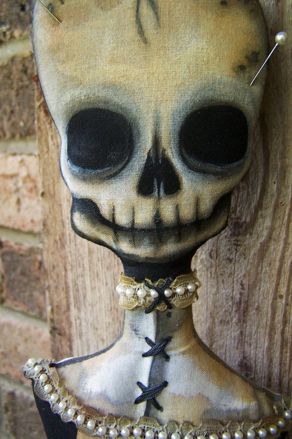 Victorian Death Voodoo Doll by Macabre ON RESERVE for wendy. via Etsy.
