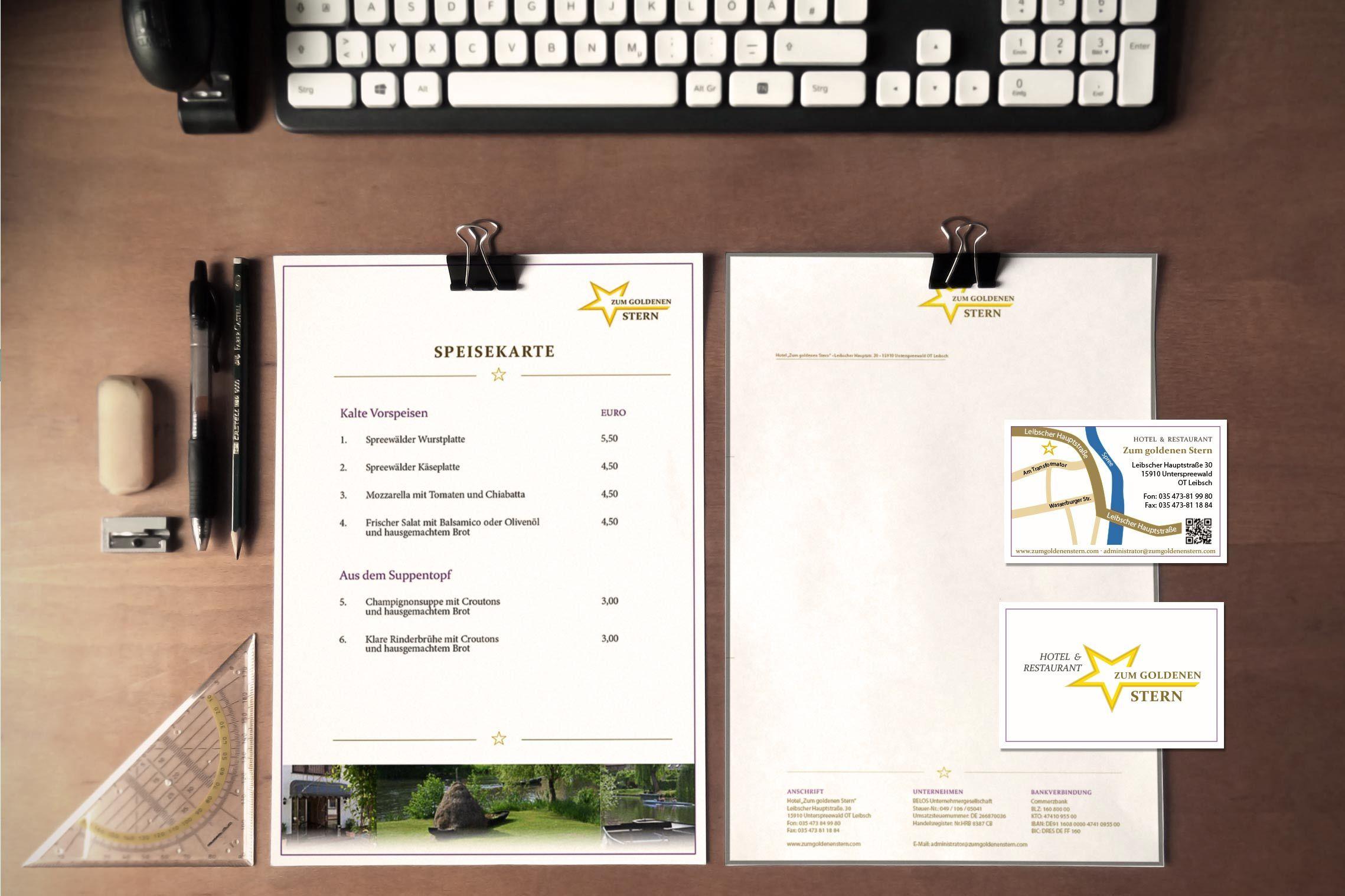 Corporate Design Für Das Hotel Zum Goldenen Stern