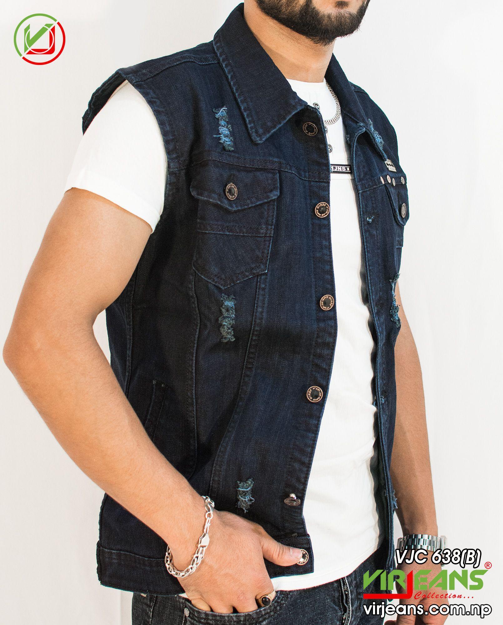 Latest Design Jeans Jacket For Men S In Kathmandu Jackets Online Shopping Clothes Half Jacket [ 2000 x 1609 Pixel ]