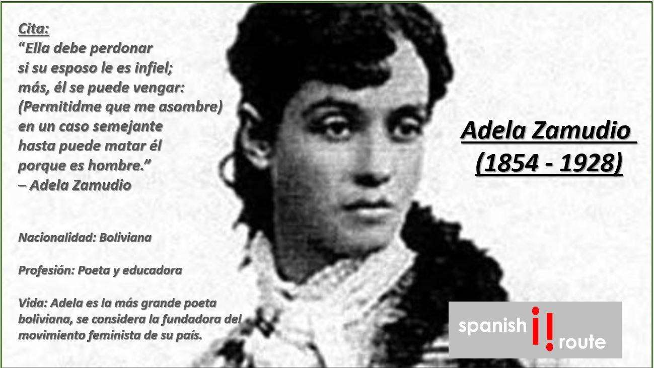Adela Zamudio Bolivia Spanishroute Spanish Online Online
