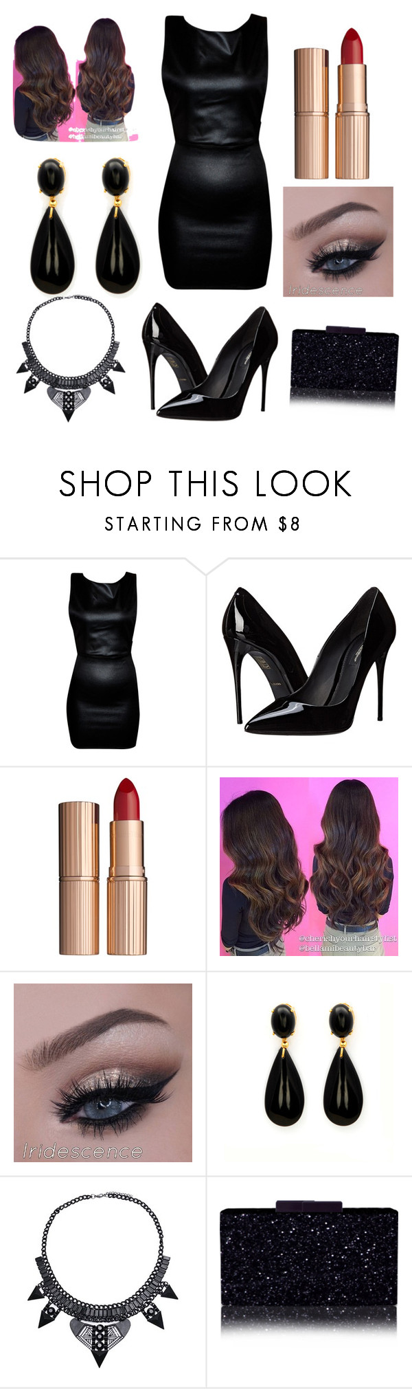 """""""Night out"""" by prettylittleliers1 ❤ liked on Polyvore featuring Dolce&Gabbana, Charlotte Tilbury, women's clothing, women's fashion, women, female, woman, misses and juniors"""