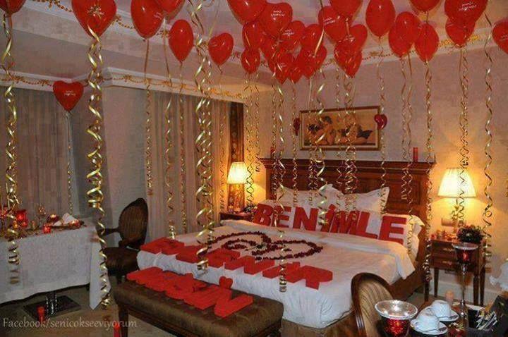 Romantic Valentine Bedroom Suprise Wedding Pinterest