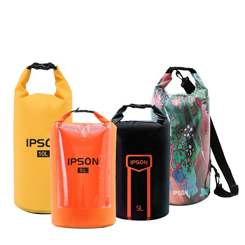 Photo of Alibaba.com / IPSON 2L Boating Floating Hiking Kayak Camping  Roll Top  Custom Logo Outdoor PVC Ocean Pack Waterproof Dry Bag