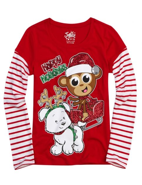 happy holidays graphic 2fer tee girls graphic tees clothes shop rh pinterest com