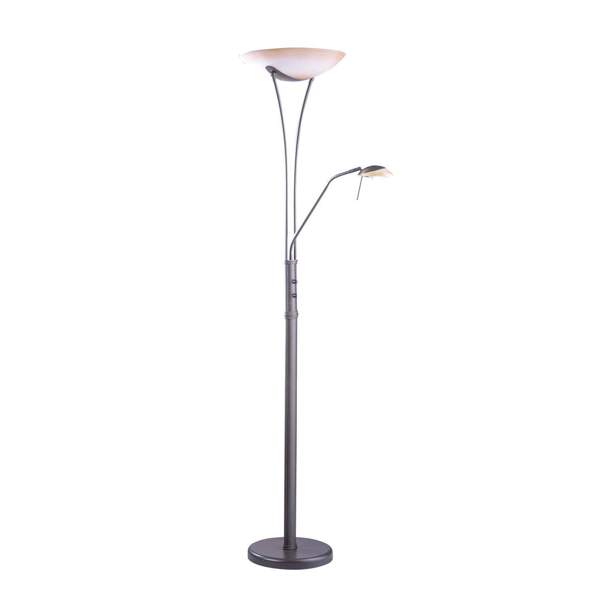 Shop kendal lighting tc light reading floor lamp dark
