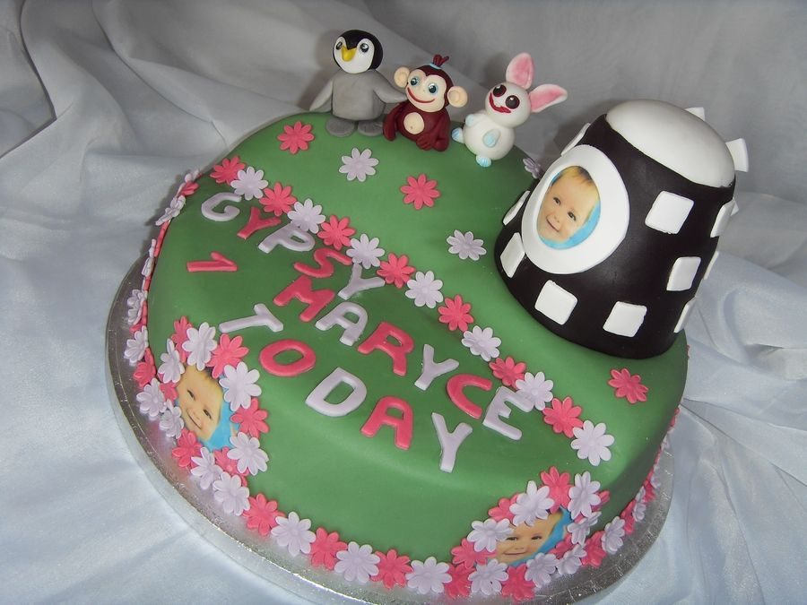 CBeebies Baby Jake Friends 1st Birthday Cake Stinkys birthday