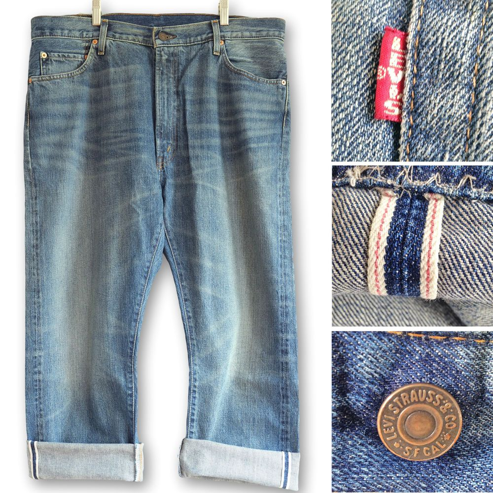 Levis Vintage Clothing 1967 505 0217. LVC Customised Red Selvedge ...