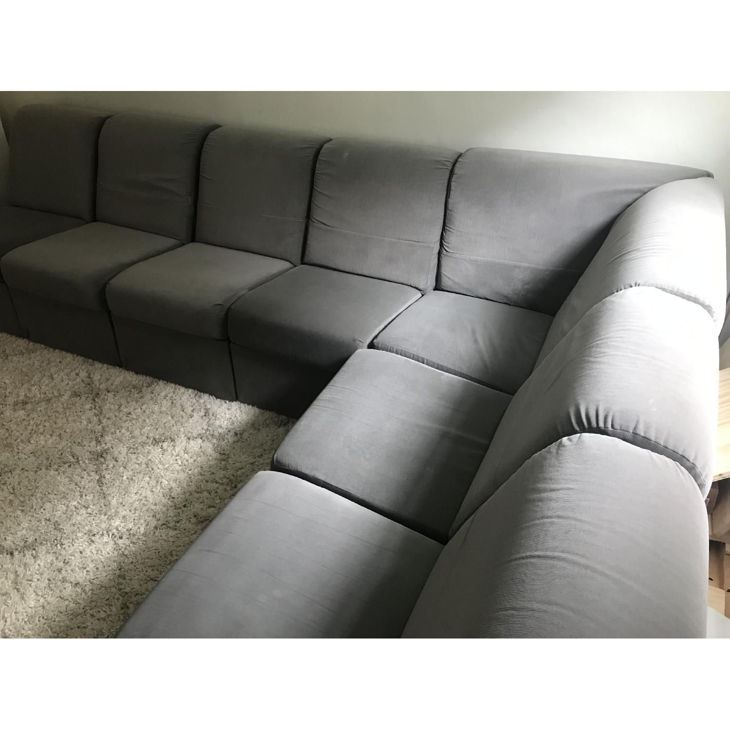 Home Reserve Interchangeable Storage Sectional Sofa Grey