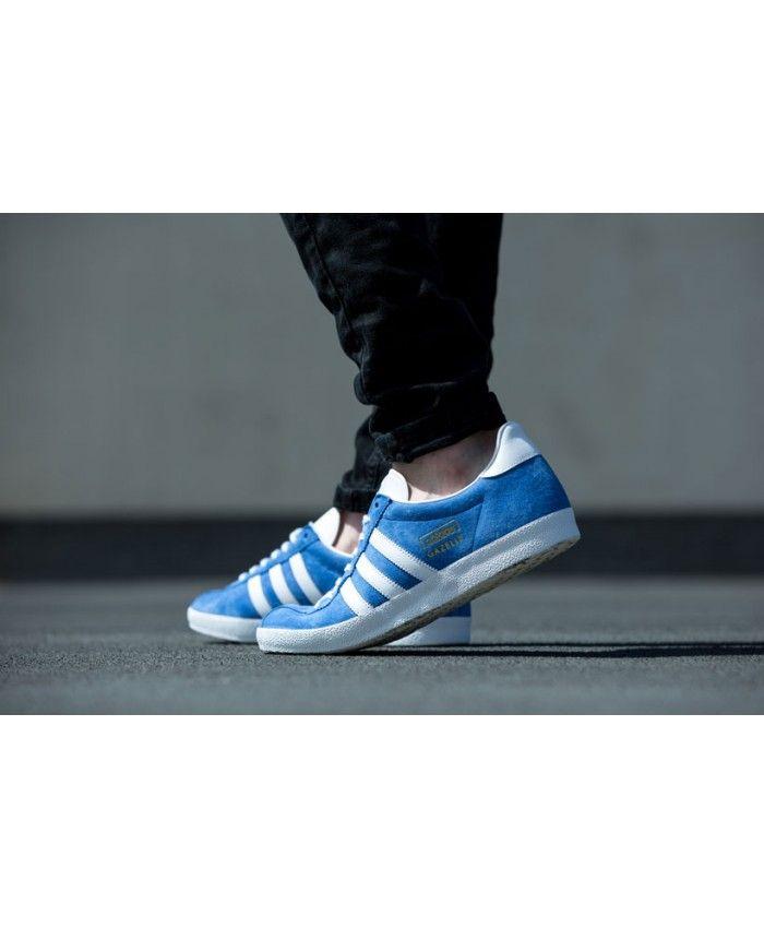 Hombre adidas Originals Gazelle azul blanco Trainer Adidas Gazelle