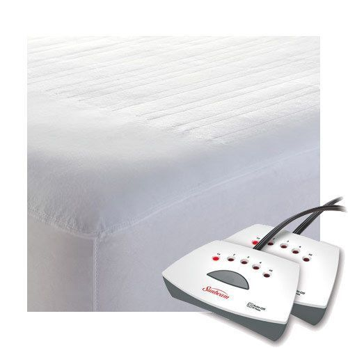 Sunbeam Non Woven Thermofine Heated Electric Mattress Pad Queen King Sizes Electric Mattress