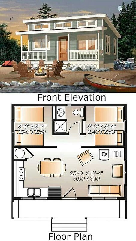 A Simple 24x20 Cabin With Awesome Must See Floor Plan Tiny House Plans Tiny House Living Tiny House Cabin Simple cottage house plan