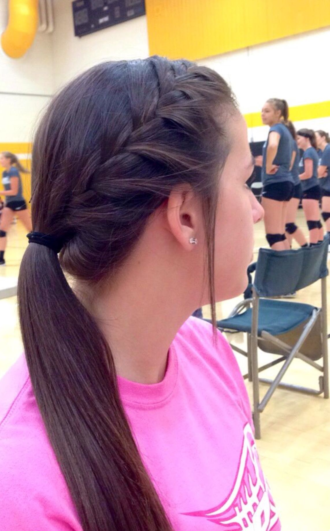 I Wish I Could Do That W My Hair Volleyball Hairstyles Sports Hairstyles Sporty Hairstyles