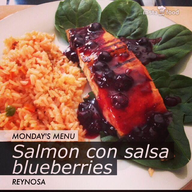 #salmón con salsa de #blueberries