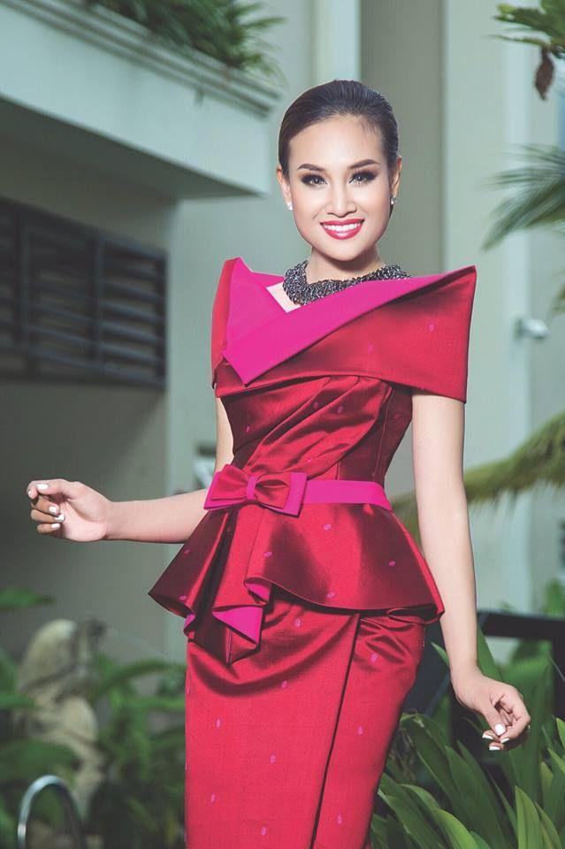 Lujoso Vestido De Fiesta Khmer Ornamento - Ideas de Vestidos de Boda ...