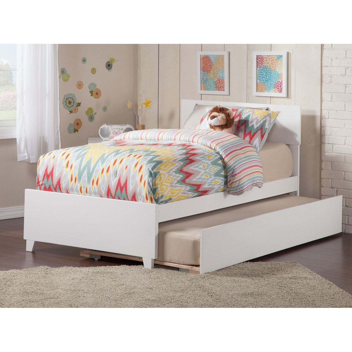 atlantic furniture orlando twin bed with matching foot board with