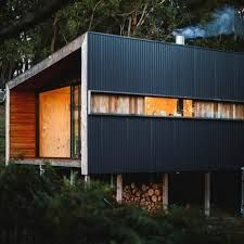 Image Result For Black Corrugated Metal Roof Modern House Rustic Houses Exterior House Designs Exterior Pump House