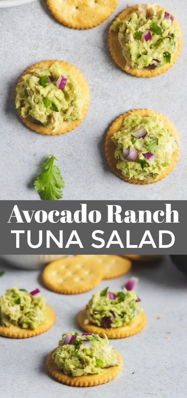 Avocado Ranch Tuna Salad #avocadoranch