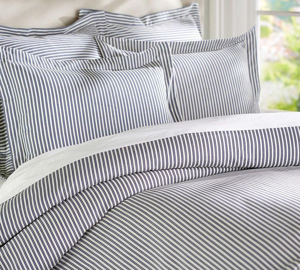 Thatcher Ticking Stripe Duvet Cover Shams Striped Duvet Covers Striped Duvet Ticking Stripe Bedding
