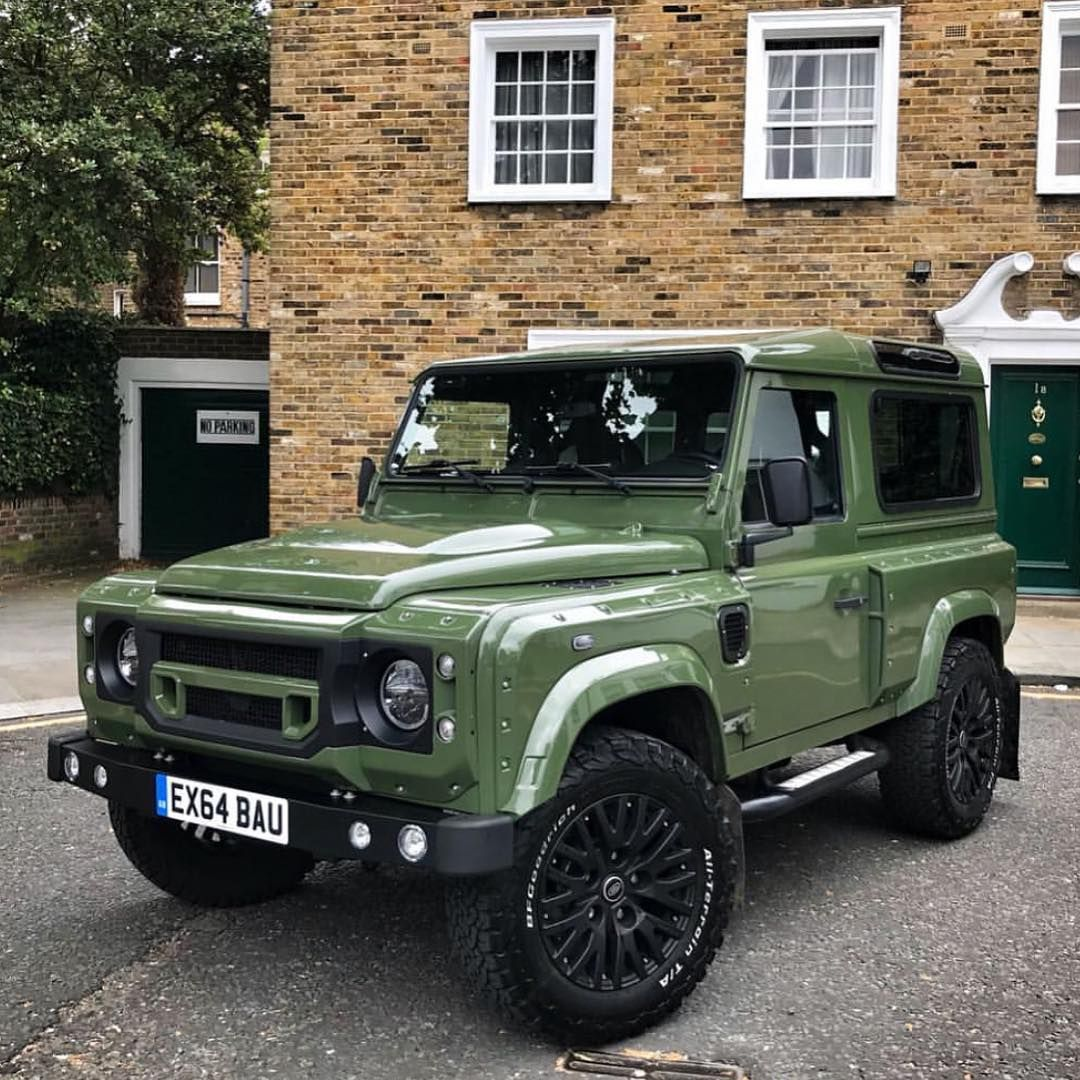 Land Rovers Of London On Instagram Green With Envy Chelseatruckco Wide Track Edition Defender Out In South Lo Land Rover Land Rover Car Land Rover Defender